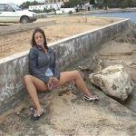 Rebekah – Naughty Outdoor Pee. NeedAPee.