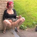 Outdoor pee 085. SneakyPee.