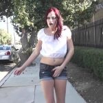 Ruby Stripper  Pisses Her Denim Shorts. Ready2Burst.
