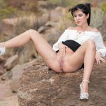 Lady Dee – Peeing on the Rocks.  W4B.