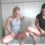 Lara-CumKitten –  Two Girls Double PISS.