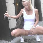 Mira-Grey and  Lara-CumKitten – Extremely boldly  Public PISS