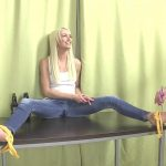 Lena Love – A tickling contest. Lovewetting