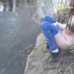 Marie-Skyler Piss in River.