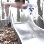 Annie – Peeing on a slide.