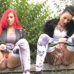Bonnie-Stylez  – BITCH PISS on the park bench.