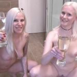 Maria and Lara – PISS Challenge | Who fill the  glass more. MDH.