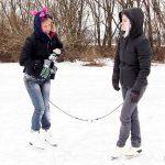 Licky Lex & Violeta  – Piss game on frozen lake!  Lovewetting.