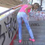 Claudia – Stairway to wetness.  Lovewetting.