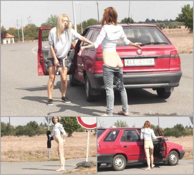 Moving car voyeur