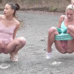 Two Is Better Than One.   Two Pissing Girls compilation. Gor2Pee.