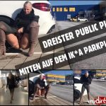 Lara-CumKitten  – Public PISS after shopping. MDH.