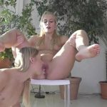 Blondienchen – Claudia pisses her hard beam. MDH.