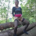 Skylabitch – Piss in stockings on trees. MDH.