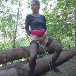 Skylabitch – Piss in stockings on trees. MDH.