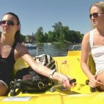 Cayla & Vanessa – Piss from pedal boat.