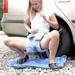 Violeta – Flat tire