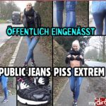 Lara-CumKitten  – Public jeans piss extreme. MDH.