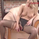 Samantha Jolie – Soaking Squirting  Nylon Hottie.