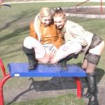 Hungary Babe  Desperate and Peeing Outdoor.