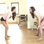 Lexi Dona and Morgan – Wrestling round with full bladder.