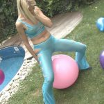 Miss Lynna  – Pee through dancing pants on balloon.
