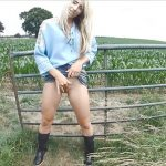 Sammie Cee – Country girl Peeing on Wellies.