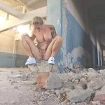 Wet Kelly – Gets Naked and Pees in the ruins.