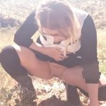 Little Miss Kitty – Peeing  In The Desert.
