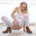 Natalie K – Pissing outdoors and stranger rims and wipes.
