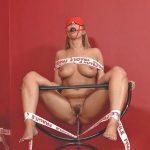Daria Glower – Bound Blonde Babe Daria Glower & Watersports Solo.