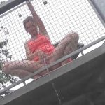LaraColada – Pee from the observation tower. Mydirtyhobby.