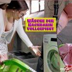 HollyBanks – Pissing laundry of the neighbor. Mydirtyhobby.
