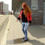 Isabell – Jeans Wetting at Tram station.