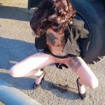 LucyRavenblood  – Slut Pisses On The Street and Squirt On The Sidewalk.