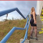 LinaMila – First public doggy piss! Stone stairs flooded! Mydirtyhobby.