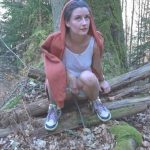 Camilla Moon – shhh !!!! pissed in the woods))).