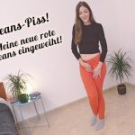 MaryHaze  – JEANS WETTING – My new red jeans inaugurated! MDH.