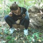 WetKelly – Hot Girl Peeing in Public while Walking in the Forest